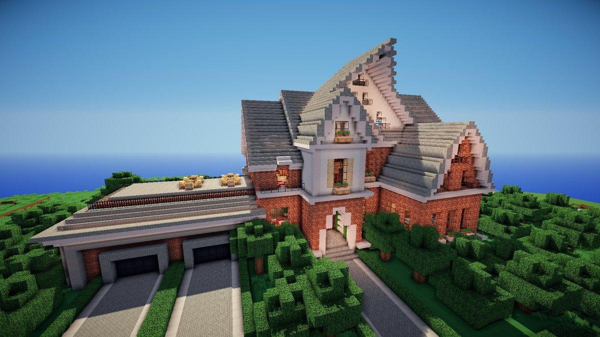 красивые большие дома в майнкрафте фото радостное лицо