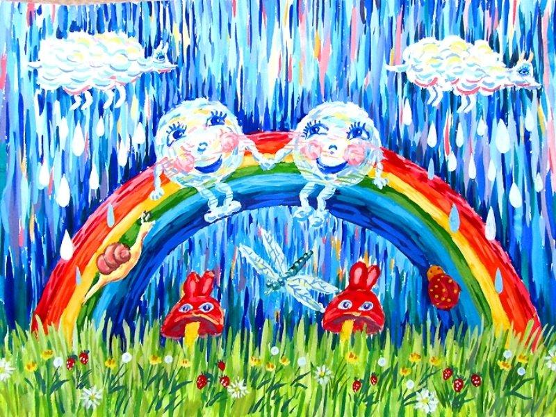 Дождик и радуга картинки для детей