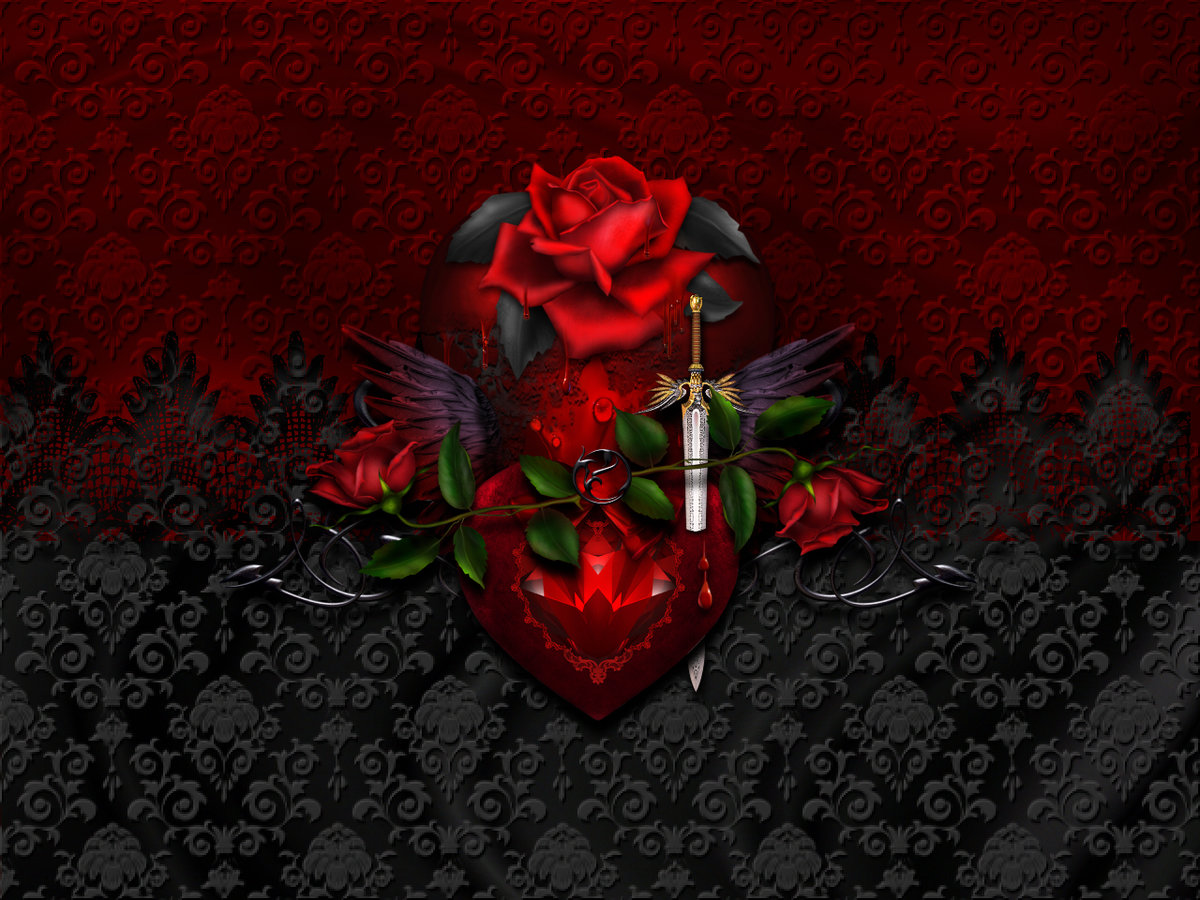 gothic heart pictures - HD 1200×900