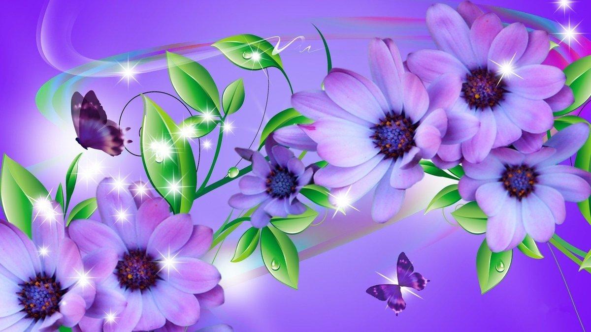 Красивые картинки на рабочий стол цветы и бабочки