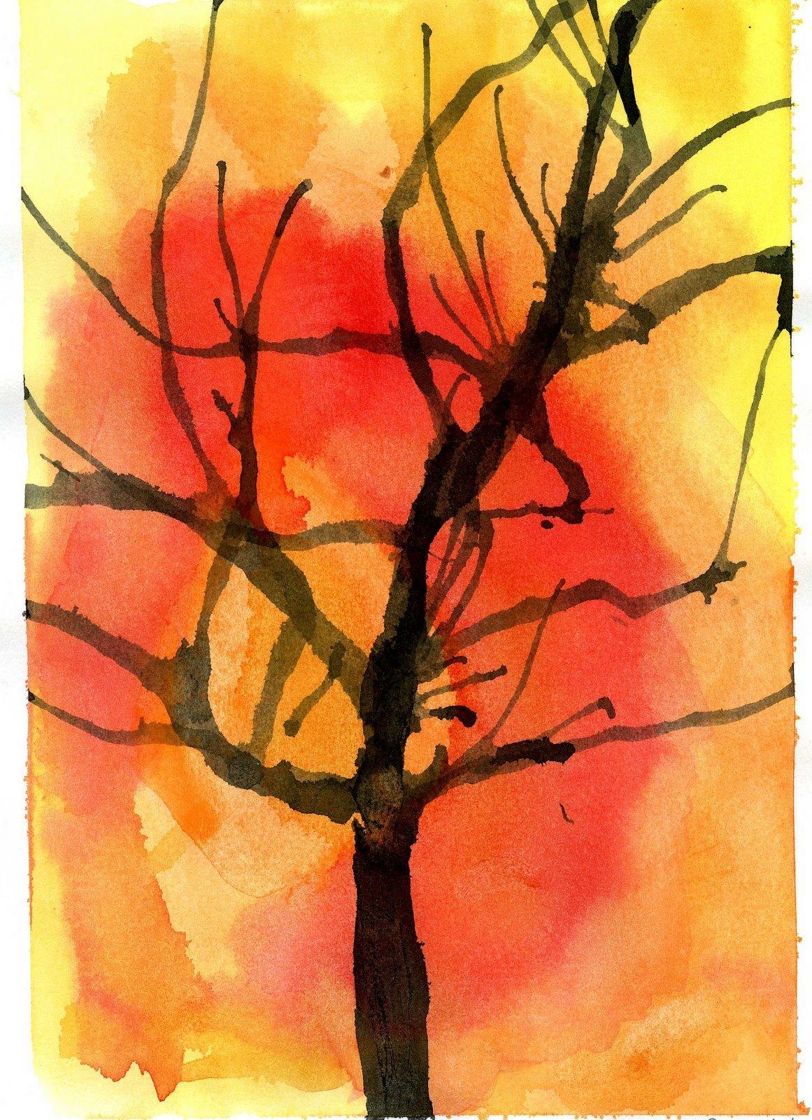 Рисунок с малышами осень