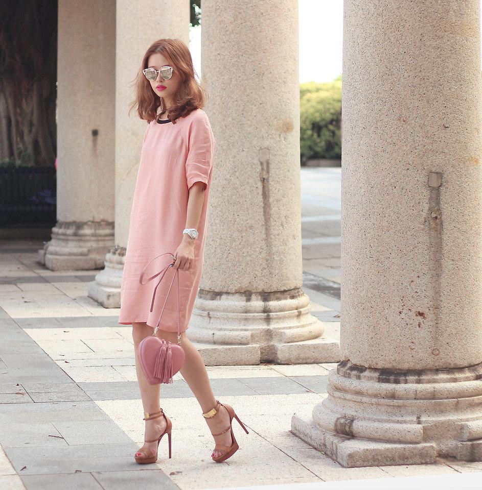 комплекс сочетание платья цвета пудры с туфлями фото вручную массива