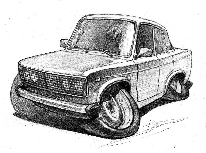этой красивые рисунки русских машин проходит