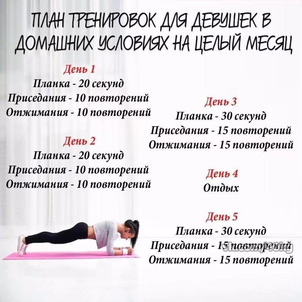 план тренировки для похудения для девушек