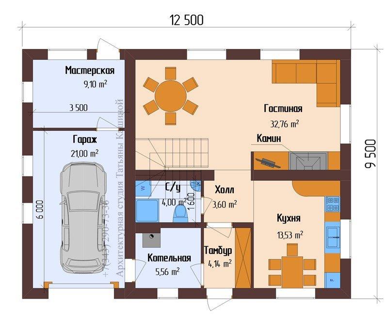 план постройки дома из пеноблоков