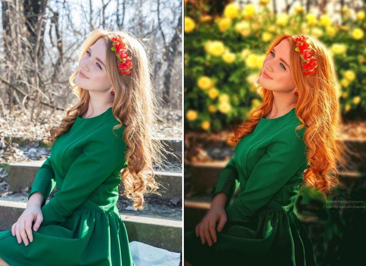 пригороде обработка фото до и после пример красивые рисунки