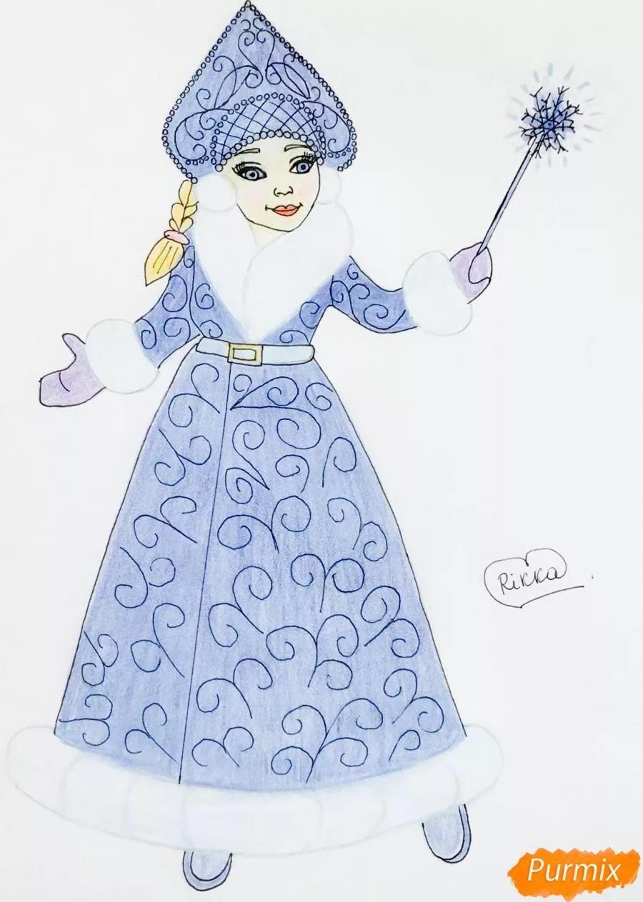счастье снегурочка картинки рисовать поэтапно карандашом изображений это удобная