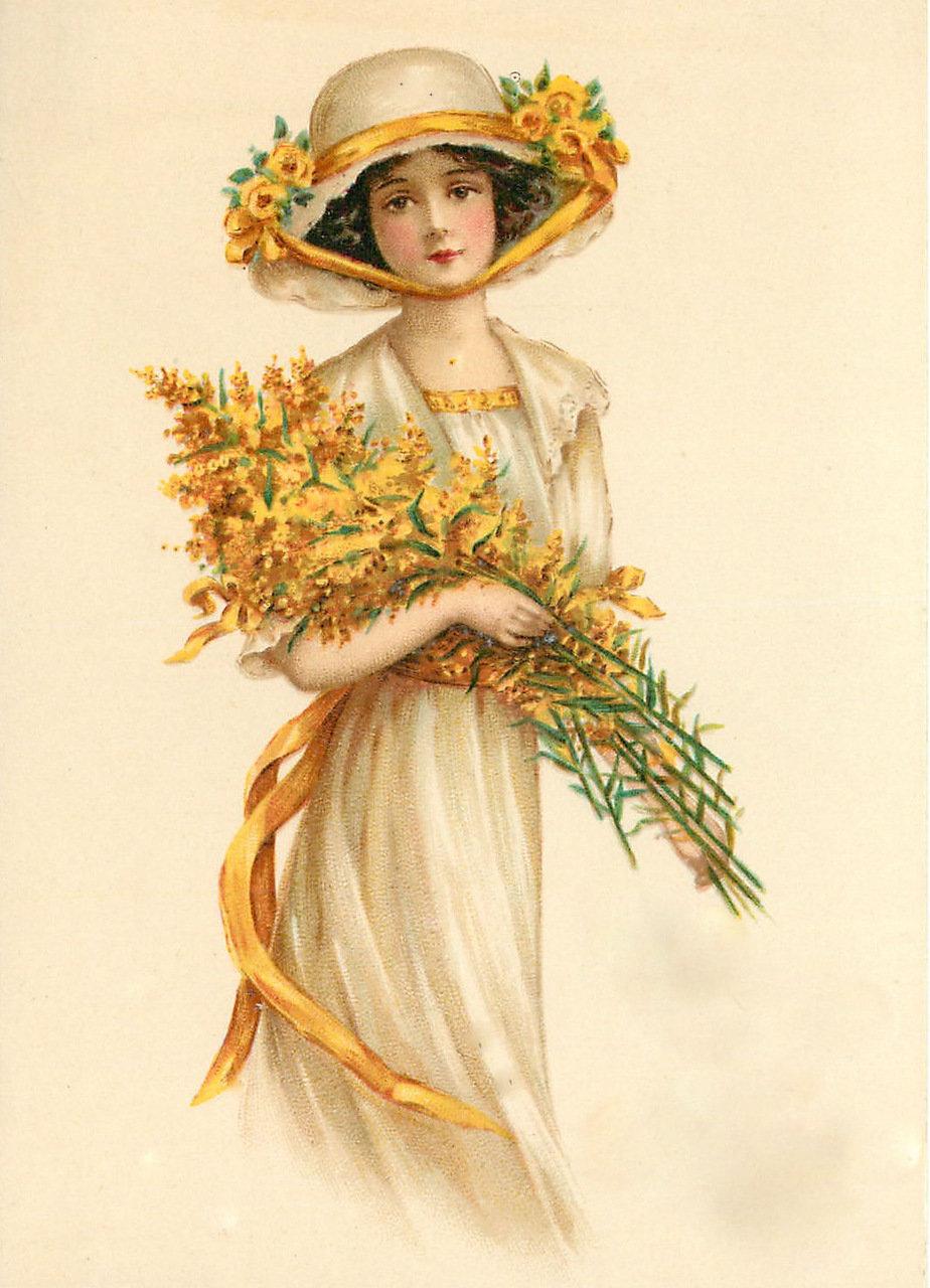 Анимации, открытки с изображением женщин