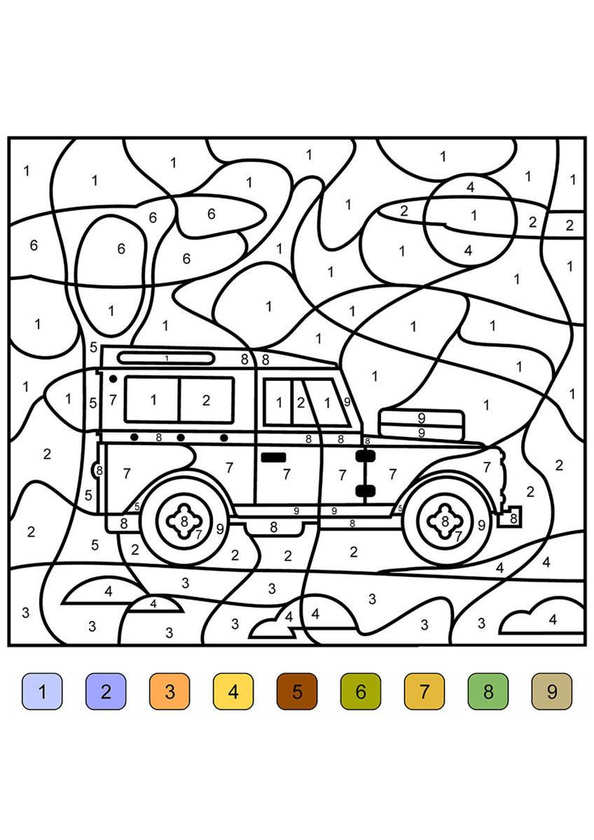 «Раскраска по номерам для детей для мальчиков» — карточка ...