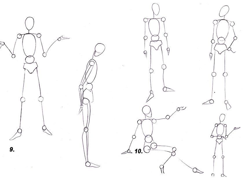 Схемы человека в движении картинки
