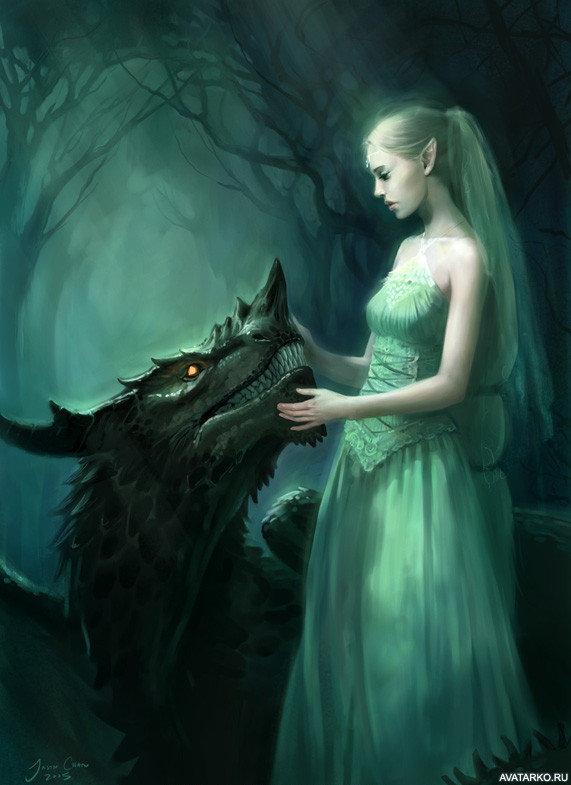 Сифонофоры, картинки с эльфами и драконами