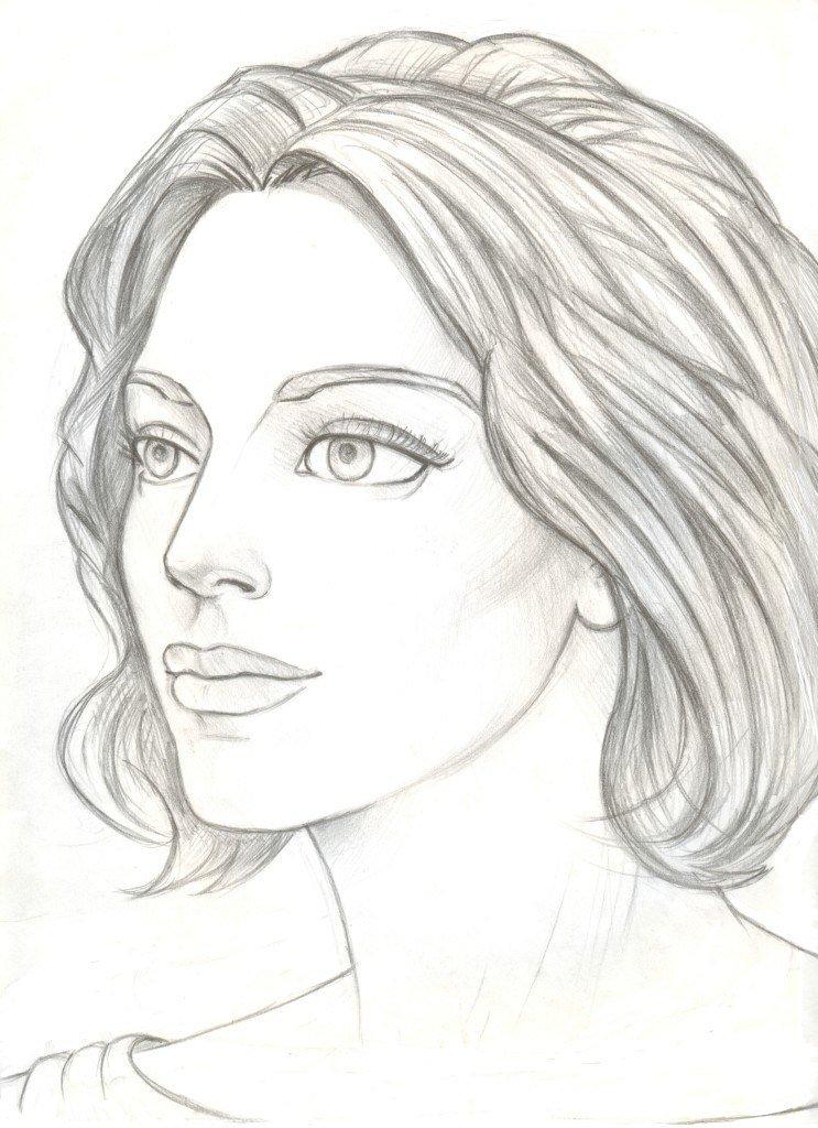 Картинки женщины карандашом