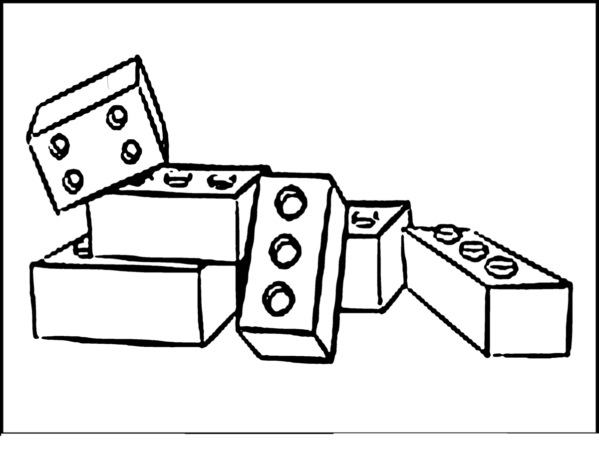 blocks coloring pages - photo#23
