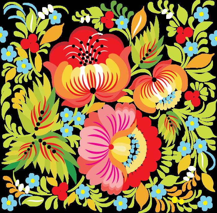 Картинки русские узоры цветные