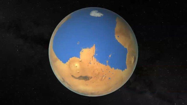 26 марта 2003 года на Марсе найдено замерзшее море