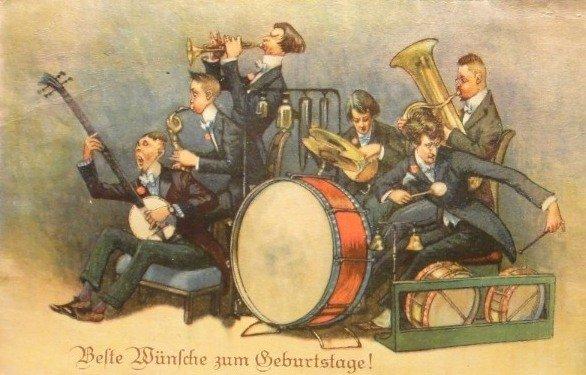 Старинные музыкальные открытки, марта мамуля
