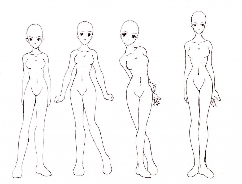 Картинки нарисованного аниме тела