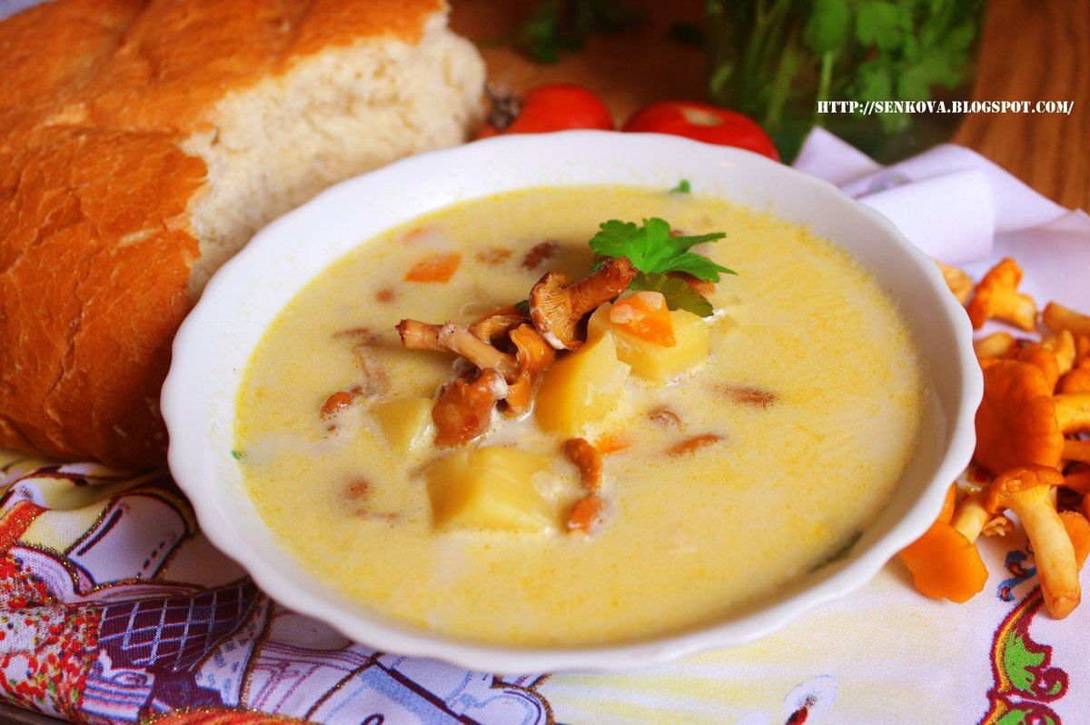 его крем суп из лисичек рецепт с фото вибрати
