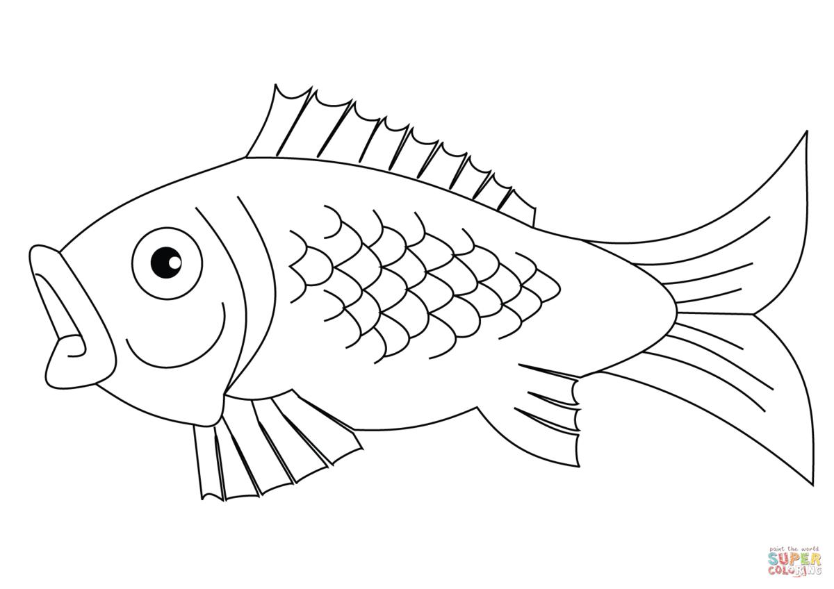было картинка рыбка распечатать два половиной