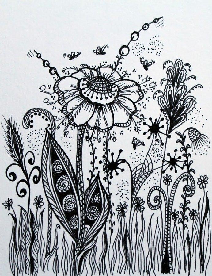 Картинки гелевой ручкой для начинающих