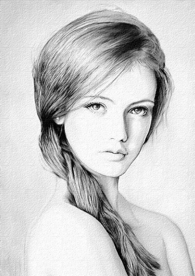 как правильно срисовывать с фотографии портрет влюблен