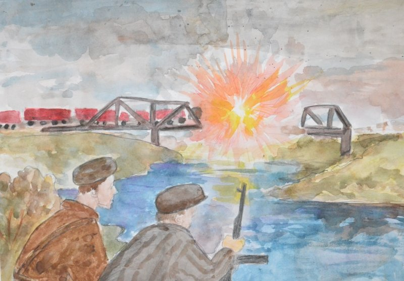 Год свиньи, рисунок дети войны
