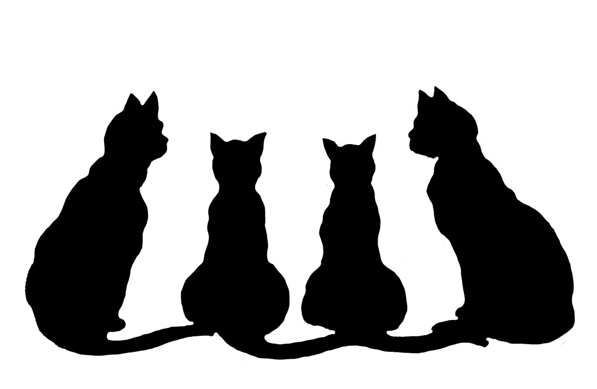 Открытки с силуэтами кошек