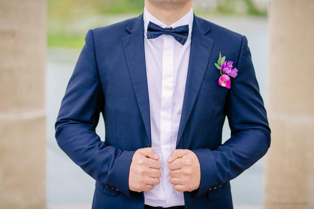 Картинки свадебный синий костюм