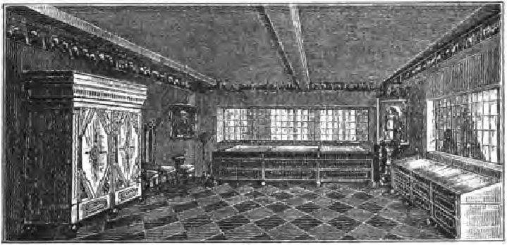 Комната в домике Петра Великого.