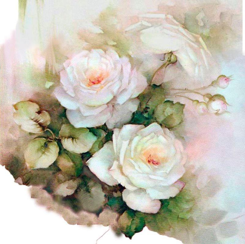картинки розы красивые рисунки прованс холодной