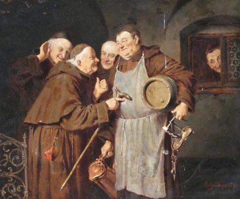 von Grutzner Gossip in the Monastary 1887