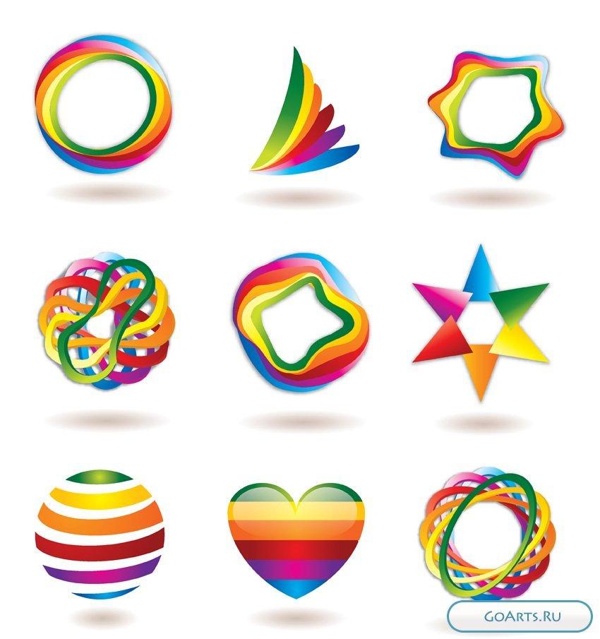 Разноцветные картинки символами