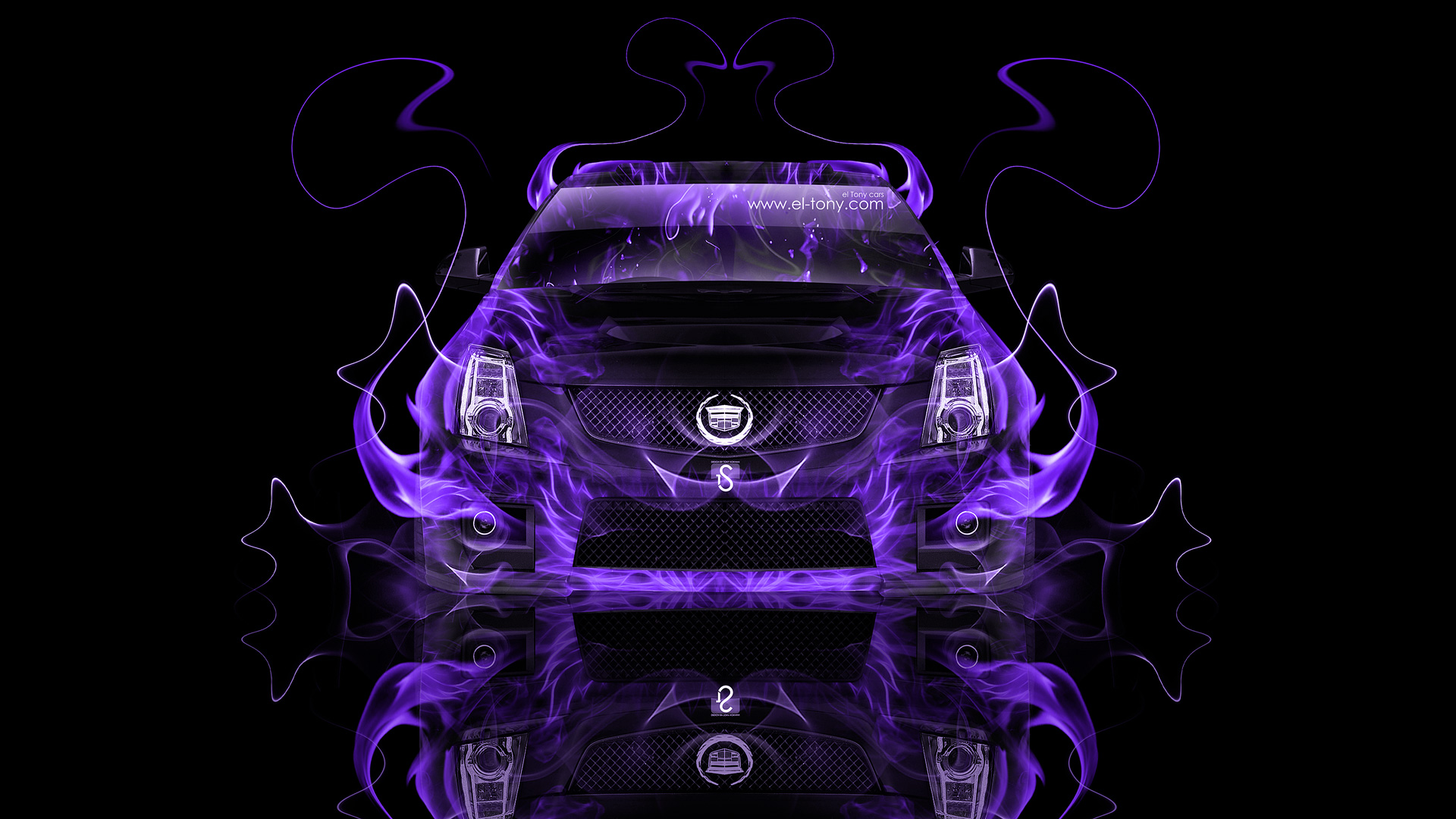 Cadillac Cts V Violet Fire Abstract Car 2014 Hd Wallpapers Design By