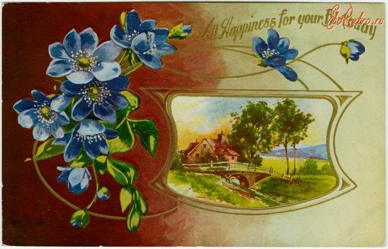 Дружбу, природа на старинных открытках
