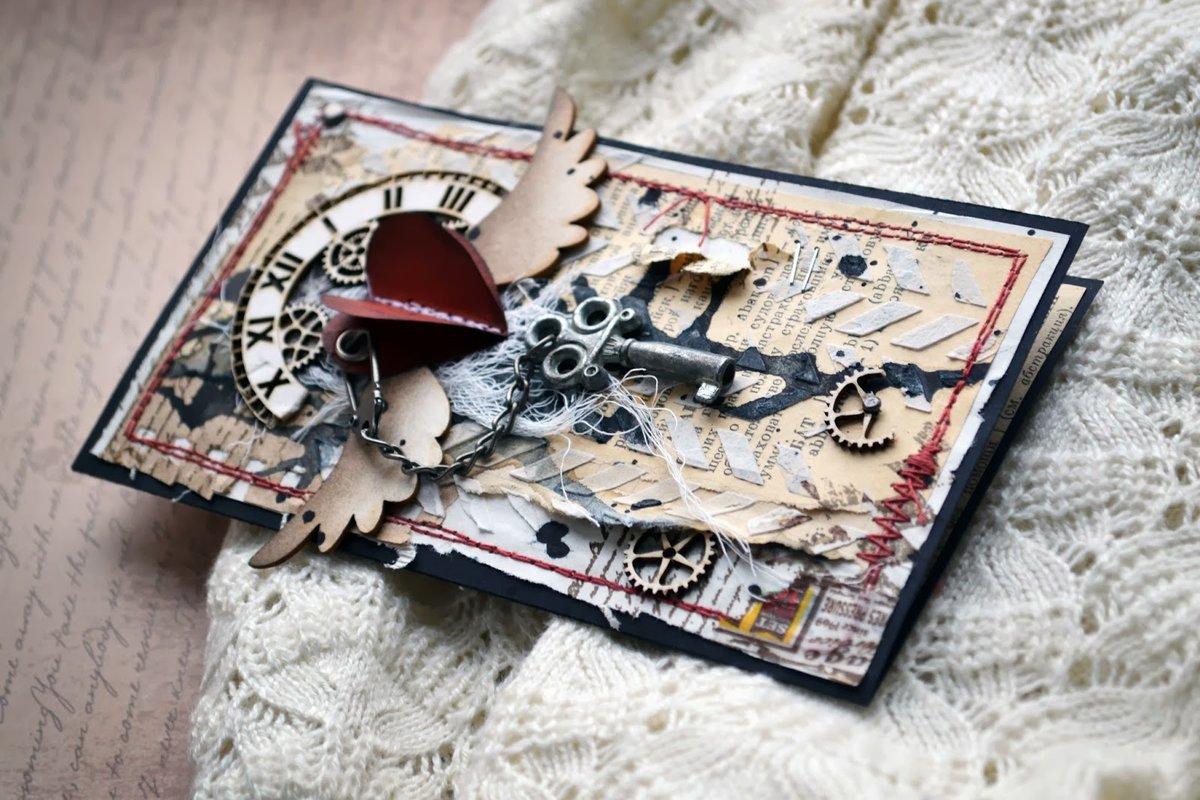 Скрапбукинг открытка гранж, игры примеры