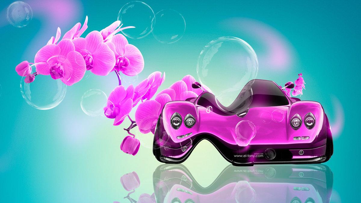 Elegant Pagani Zonda C12 Fantasy Flowers Plastic Car 2014