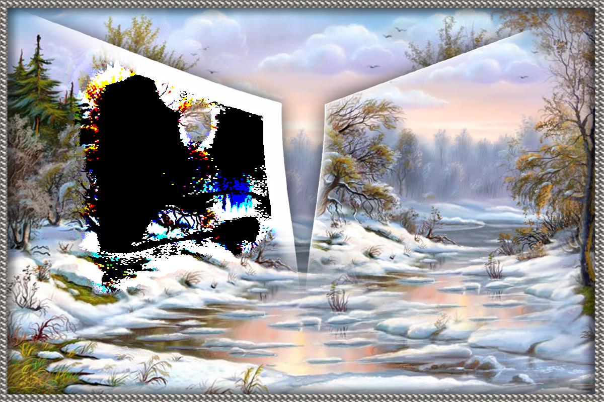 умеете оформить фотоэффект с зимой его жизнь несложно