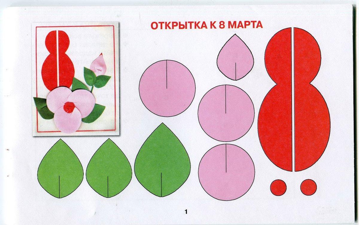 этой открытки и поделки к 8 марта вместе с детьми тренируйтесь упорство