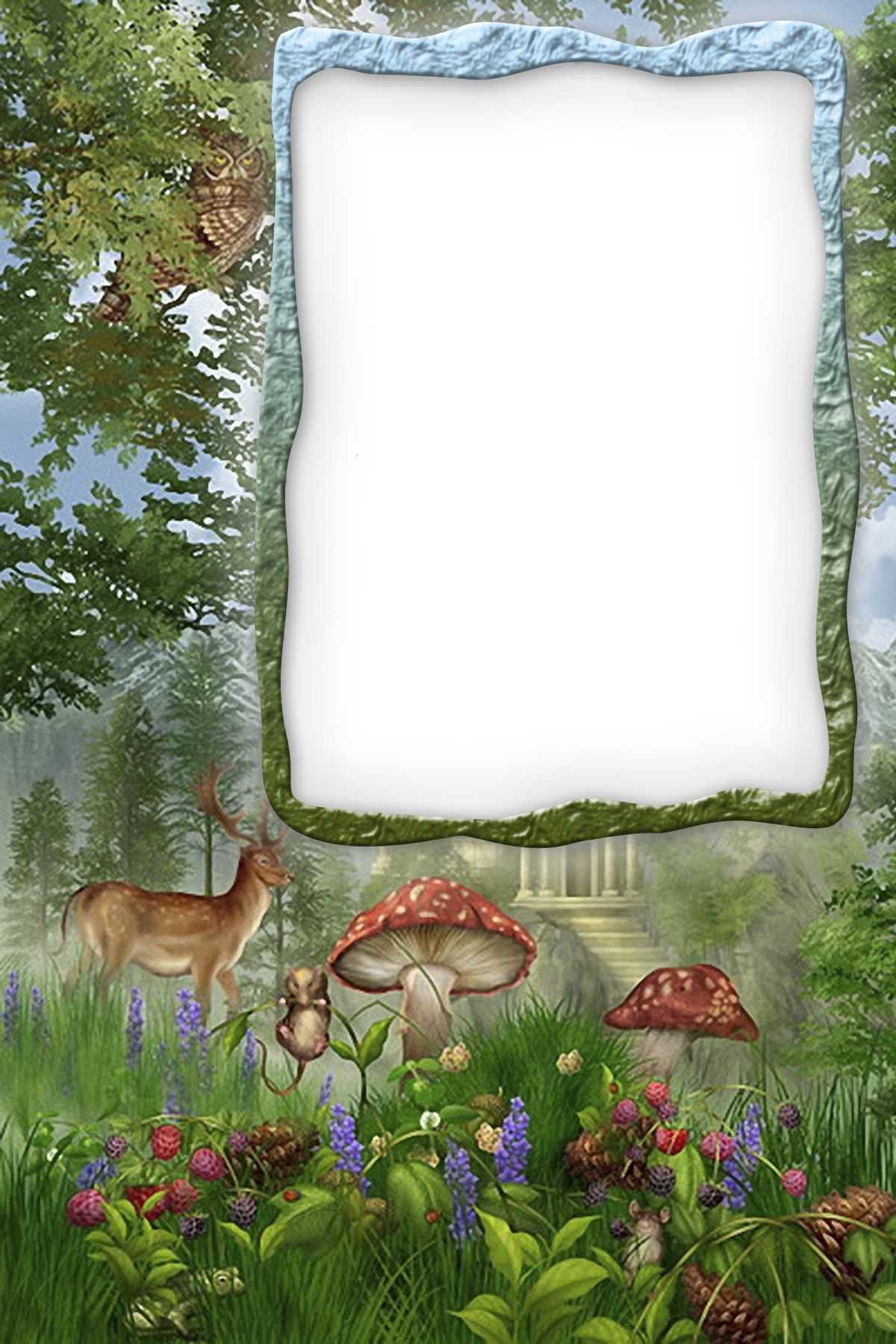 Болгария надписью, фон леса для поздравления