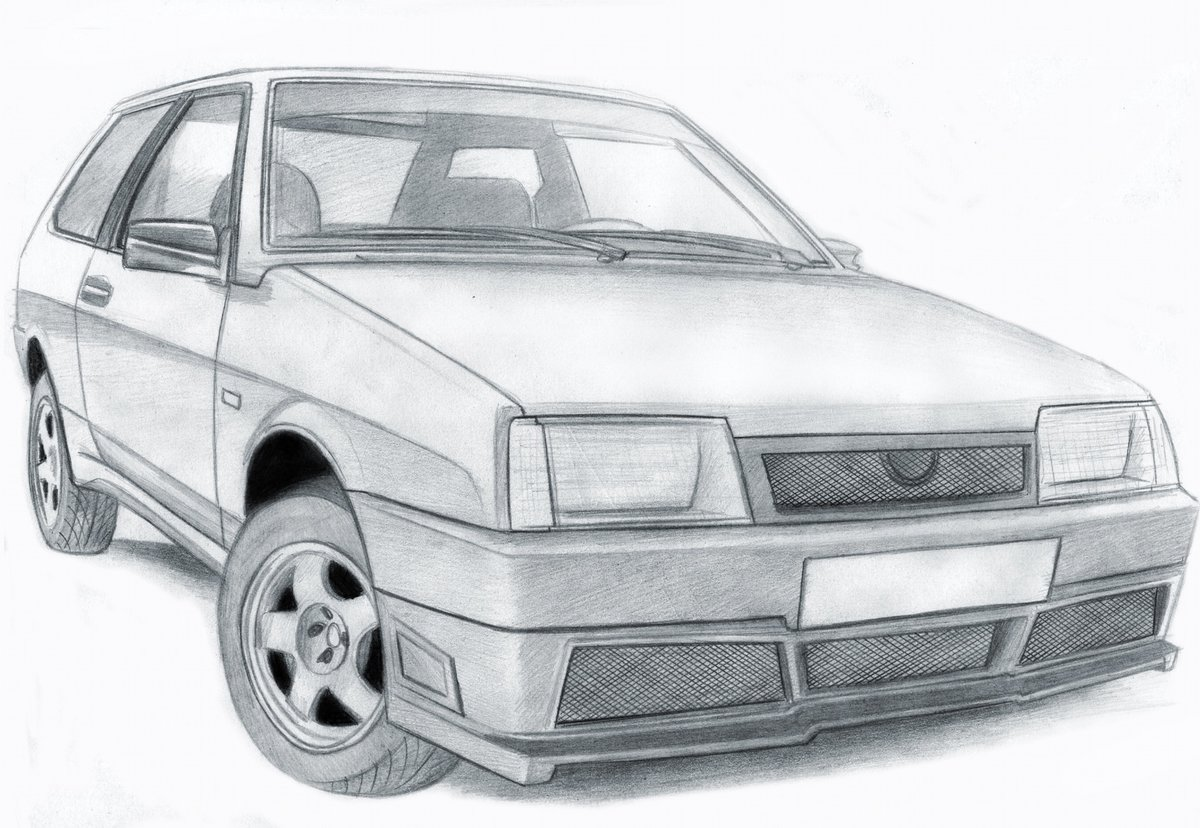 всему картинки рисовать машины ваз нетоксичное