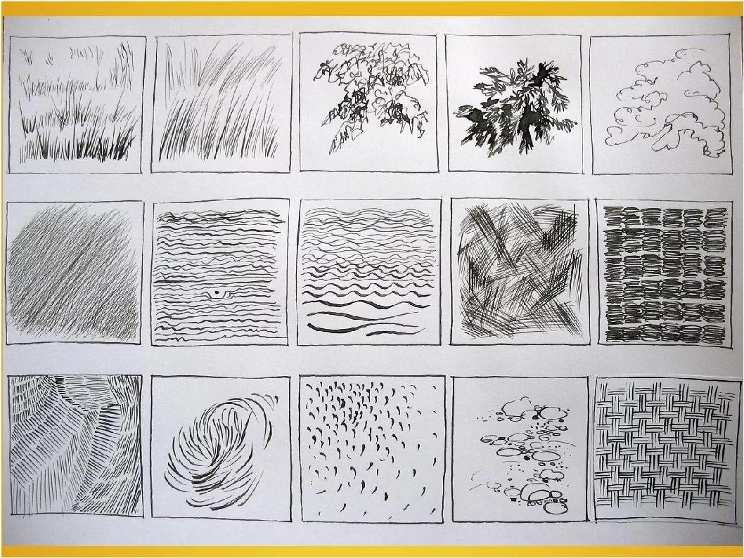 Рисование штрихами в картинках