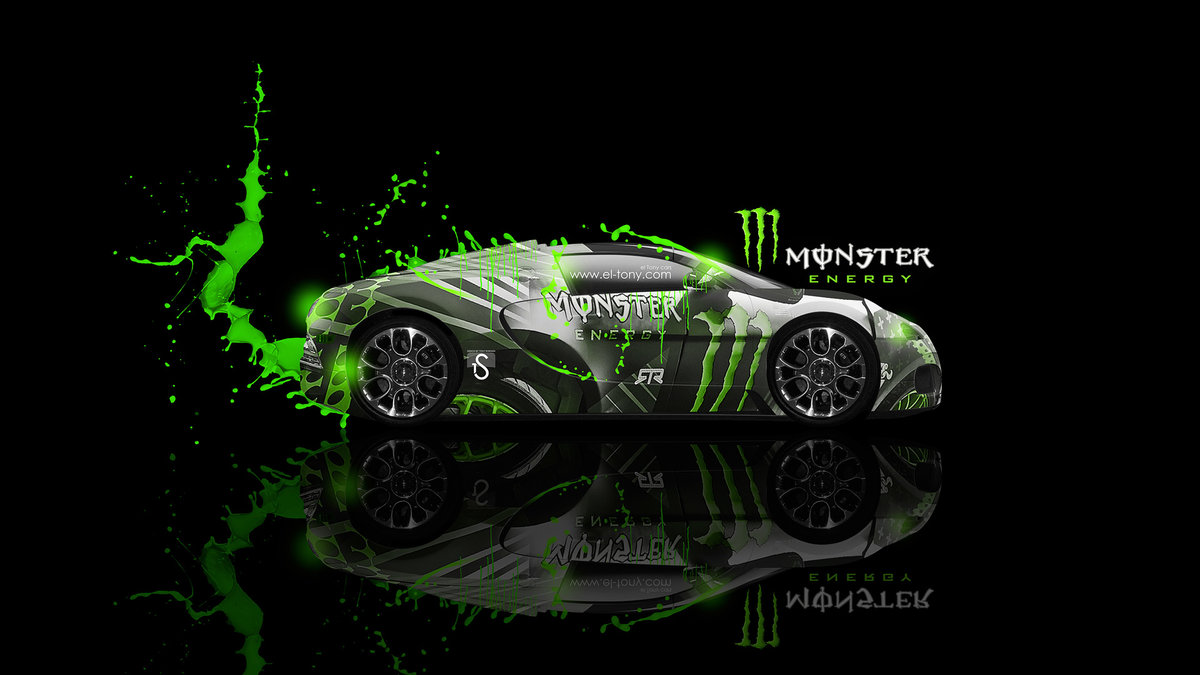 Monster Energy Bugatti Veyron Fantasy Green Neon 2013
