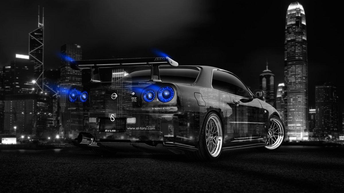 Nissan Skyline GTR R34 JDM Back Side Crystal