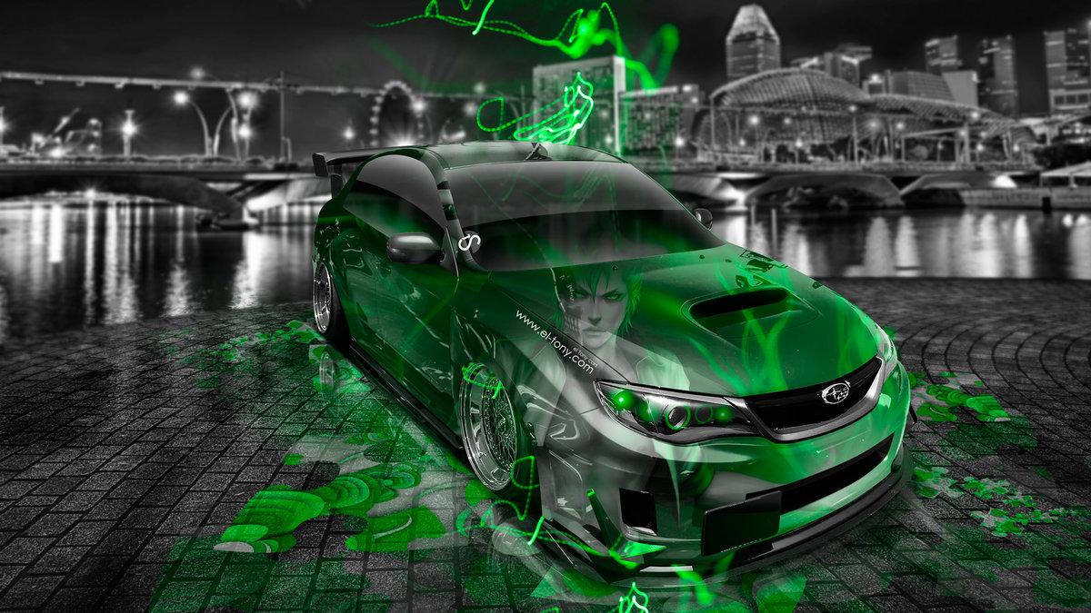 Subaru Impreza WRX STI JDM Tuning Anime Bleach