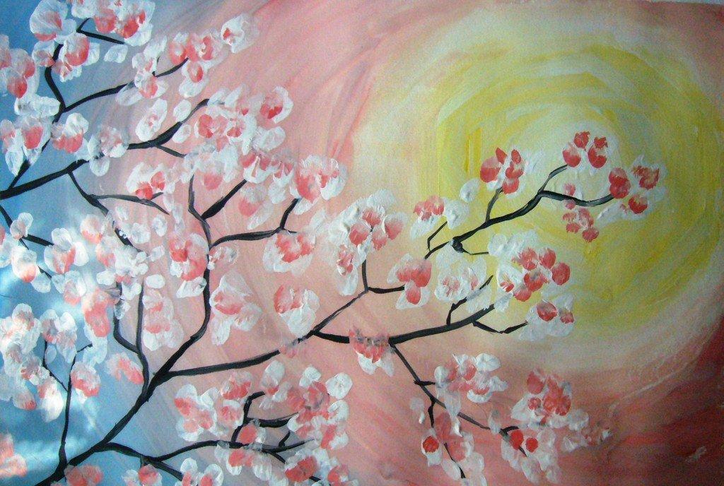 Картинки сакура в цвету нарисовать выдумывает, выдумывает
