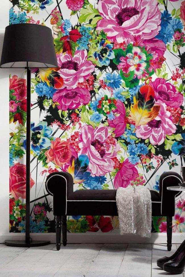 Картинки с цветами на стену, эдита