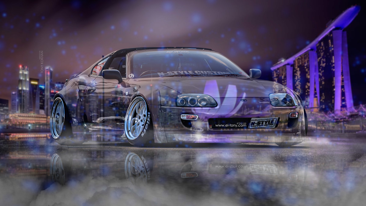 Exceptional Toyota Supra JZA80 JDM Tuning 3D N Style