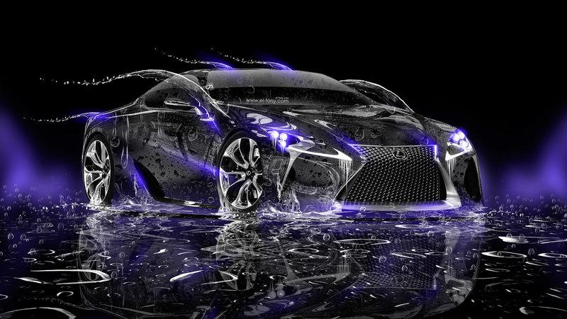 Lexus LF LC Water Car 2014 HD Wallpapers