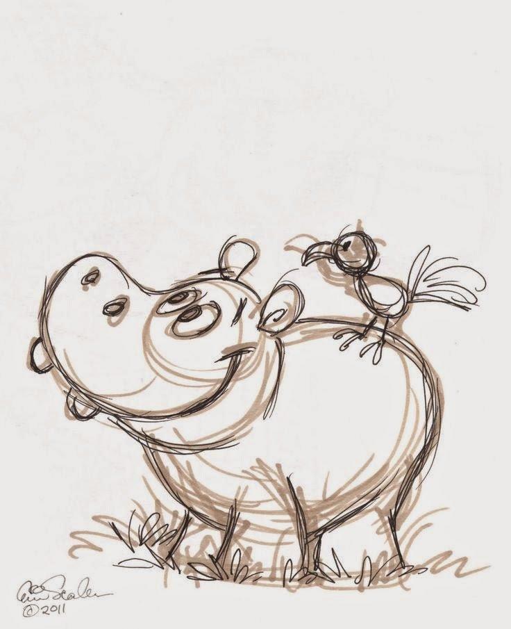 Смешные животные картинки карандашом, надписью