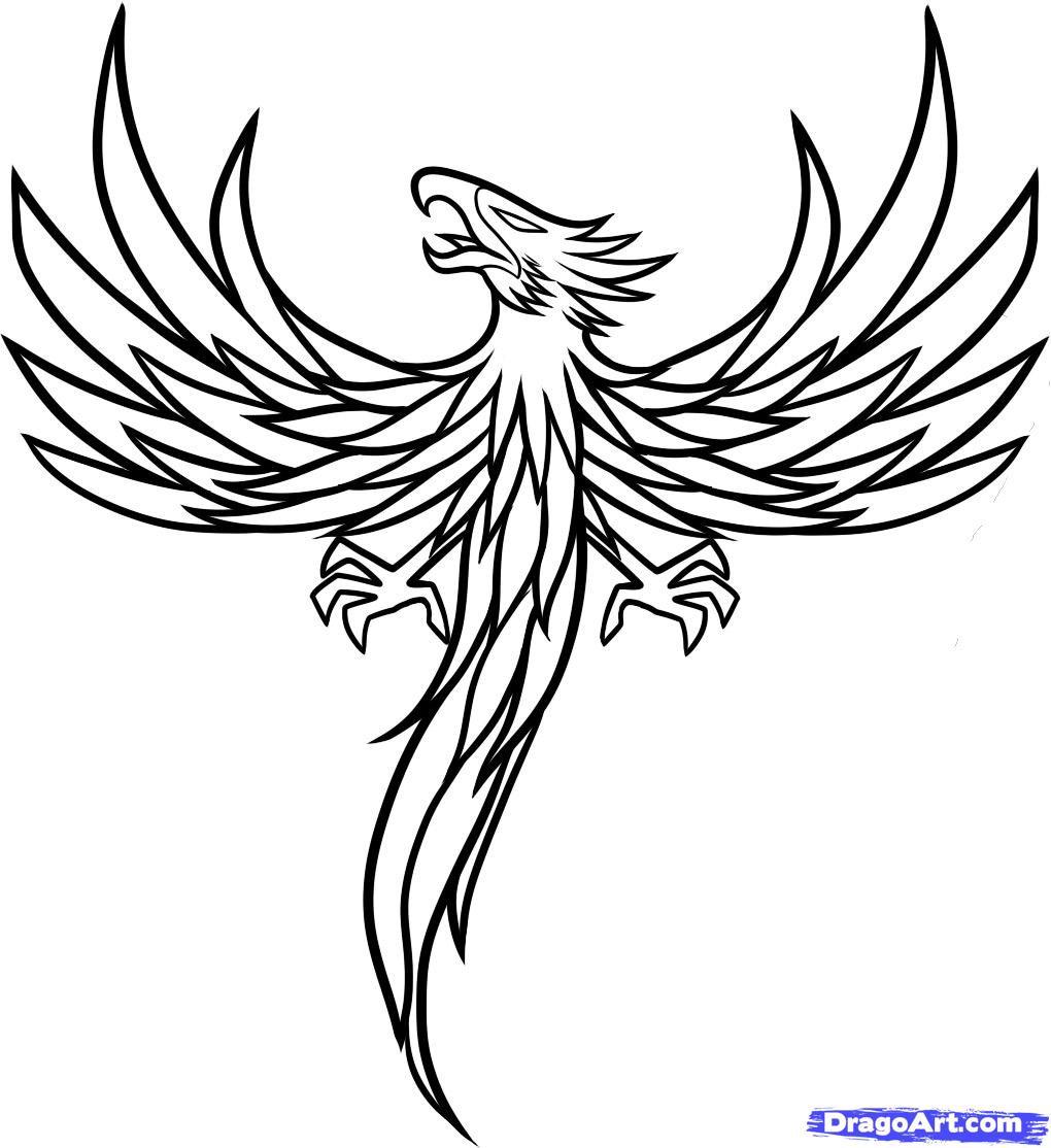 Дню, птица феникс картинки рисовать